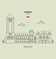 imperial castle in poznan vector image vector image