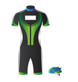isolated cycling uniform vector image
