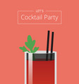 let s cocktail party poster vector image