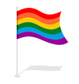 LGBT Flag Official symbol of homosexual community vector image vector image
