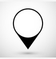 map pointer icon in flat style with shadow vector image vector image