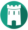 medieval castle tower icon vector image