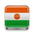 Metal icon of Niger vector image vector image