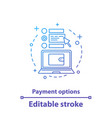 payment options concept icon vector image vector image
