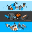 Petroleum Isometric Banners vector image vector image
