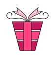 Pink gift box Packing for surprise Flat color vector image vector image