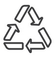 recycle symbol line icon eco and delivery vector image