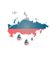 russia usa banner vector image