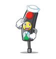 sailor traffic light character cartoon vector image vector image
