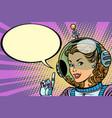 science fiction woman astronaut hero vector image