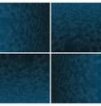 Set Blue Honeycomb Background vector image vector image