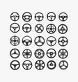set different steering wheels vector image