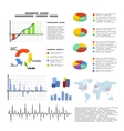 Set of flat graphics and diagrams infographic vector image vector image