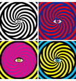 Set of four bright hypnotic Poster vector image vector image