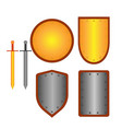set of signs shield and sword 2408 vector image vector image
