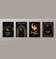 set ramadan kareem greeting card or posters vector image