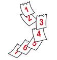 Sheets of calendar vector image vector image