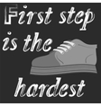 Shoes Banner with Positive Quote vector image vector image