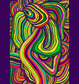 simple abstract tabby rainbow colorful psychedelic vector image vector image