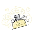 Sketch of perfume bottle for your design vector image