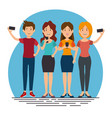 smartphone addiction concept modern lifestyle vector image