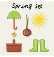 Spring garden set vector image vector image