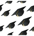 Student hat background vector image