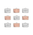 vecor briefcase icons vector image vector image