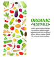vegetables set logo label cartoon style vector image