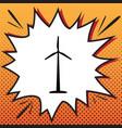 wind turbine logo or sign comics style vector image
