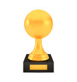 winner volleyball cup award on stand with empty vector image
