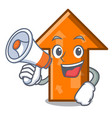 with megaphone arrow character cartoon style vector image vector image