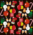 seamless pattern merry christmas and new year vector image