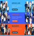 business people resource banner horizontal set vector image