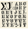 Scribbled capitals vector image