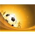 Gold soccer background vector image