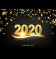2020 new year background holiday label vector image vector image