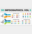 3d perspective infographics pack vol 5 vector image vector image