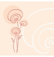 Abstract flowers vector image vector image