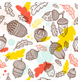 acorn seamless pattern in boho style vector image vector image