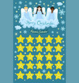 advent calendar with angels on cloud vector image vector image