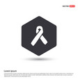 aids awareness ribbon sign or icon hexa white vector image vector image
