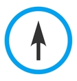 Arrow Axis Y flat blue and gray colors rounded vector image vector image