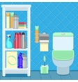 bathroom items vector image