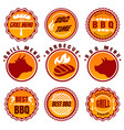bbq labels set vector image vector image