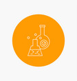 beaker lab test tube scientific white line icon vector image vector image