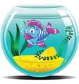 blue aquarium vector image