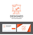 business logo template for business chart data vector image