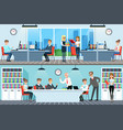 business people working in office set men and vector image