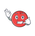 call me okay bowling ball character cartoon vector image vector image